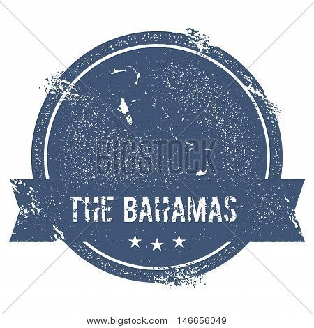 Bahamas Mark. Travel Rubber Stamp With The Name And Map Of Bahamas, Vector Illustration. Can Be Used