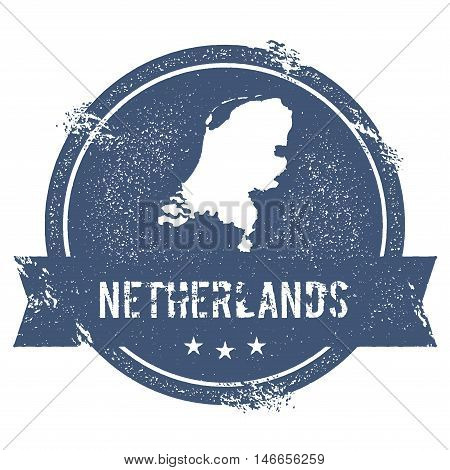Netherlands Mark. Travel Rubber Stamp With The Name And Map Of Netherlands, Vector Illustration. Can
