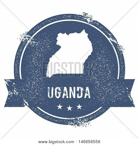 Uganda Mark. Travel Rubber Stamp With The Name And Map Of Uganda, Vector Illustration. Can Be Used A