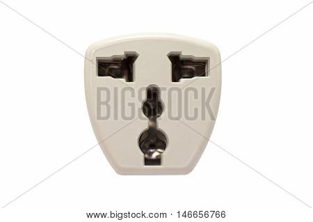 Receptacle electrical device isolated on white background