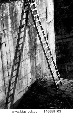 Ladder And Shadows.