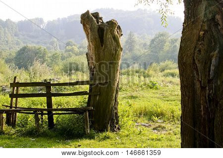 Bench In Countryside