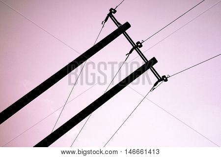 Electrical Wires Silhouette