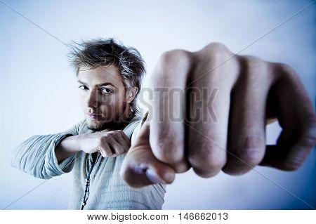Aggressive Man