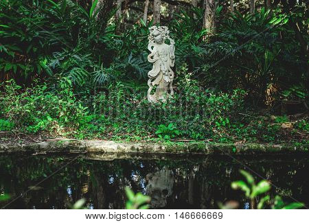 Washington Oaks State park's landscape in Florida