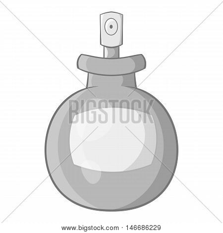 Spray bottle icon in black monochrome style isolated on white background. Tool for disinfection symbol vector illustration
