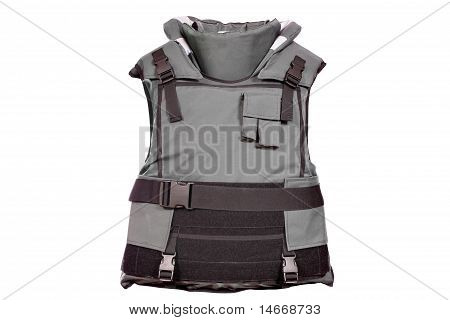 heavy bulletproof vest isolated