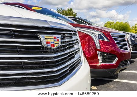 Indianapolis - Circa September 2016: Cadillac Automobile Dealership. Cadillac is the Luxury Division of General Motors III