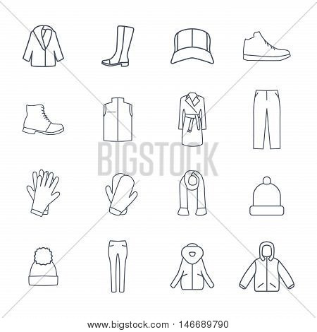 Vector Set of Clothes Icons epa 10