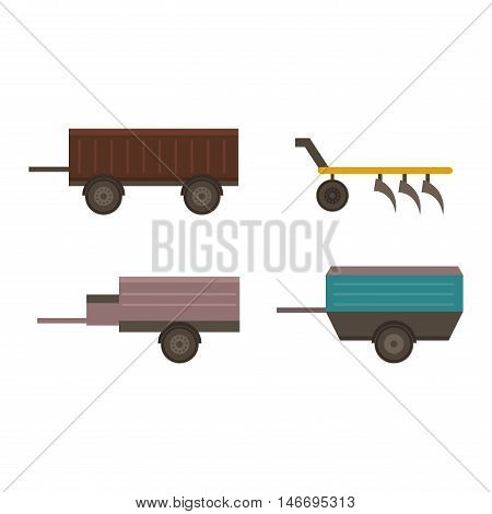 Farm plow for deep plowing vintage engraved vector illustration. Industrial agriculture farming field farm plow rural machinery. Vector cultivation plough vehicle machine farm agriculture.