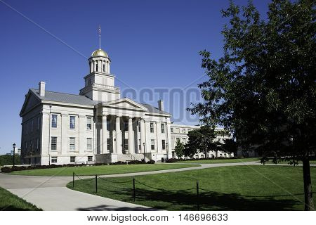 Historic State House on the University of Iowa Campus