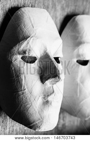 White Masks for children to painting. Actually the actors use it in the performance as well.