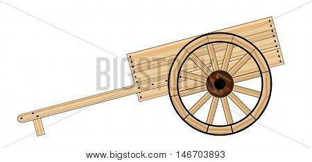 A typical Mormon wooden empty hand cart