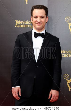 LOS ANGELES - SEP 10:  Ben Savage at the 2016 Creative Arts Emmy Awards - Day 1 - Arrivals at the Microsoft Theater on September 10, 2016 in Los Angeles, CA