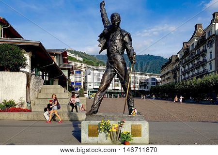 Montreux, Switzerland, September 2, 2016: The statue of Freddie mercury in Montreux, Switzerland.