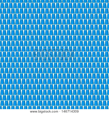Background of cups in blue design on white background
