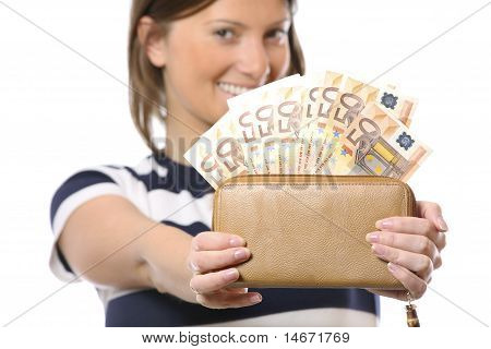 Happy, Rich Woman