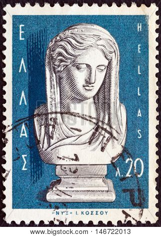 GREECE - CIRCA 1967: A stamp printed in Greece from the