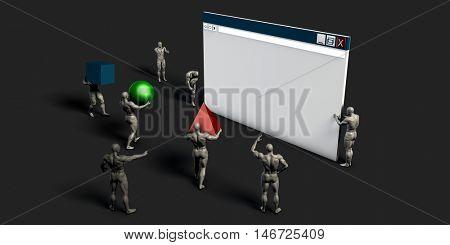 Web Development and Creating Online Application Through a Team 3D Illustration Render