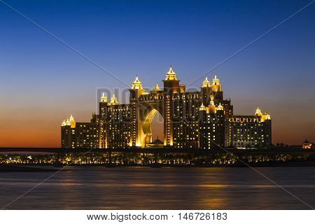Atlantis Hotel In Dubai. Uae