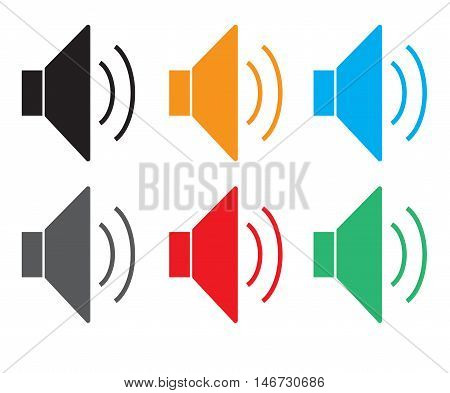 speaker icon volume icon speaker icon on white background loud speaker icon