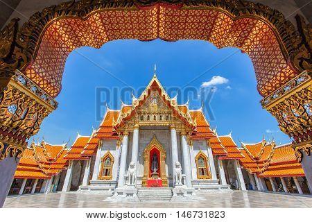 Wat Benchamabophit at Bangkok City, Thailand (the Marble Temple)