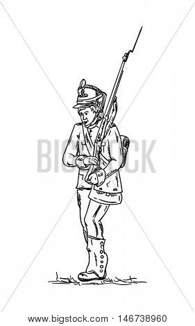 vector - isolated on background -Soldier