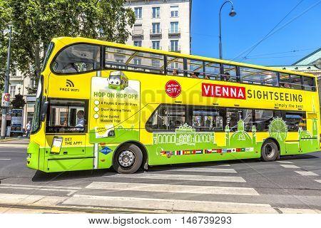 Touristic Bus In Vienna, Spain.