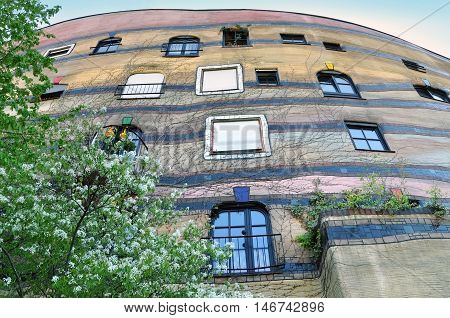 Darmstadt, Germany - April 18, 2015: The residential complex