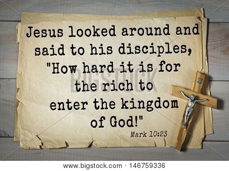 TOP-350. Bible verses from Mark.Jesus looked around and said to his disciples,