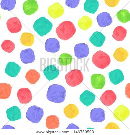 Vector Watercolor Spectrum Seamless Pattern. Clipping paths included.