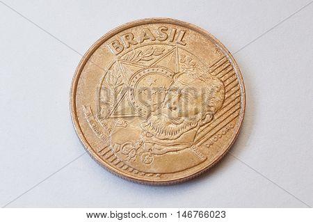 25 Brazilian Centavos (2009) Shows Manuel Deodoro Da Fonseca (1827-1892), First President Brazilian