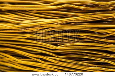 Closeup of copper coil wiring technology, abstract
