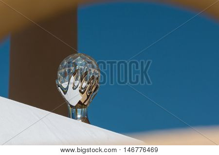 Crystal Ball representing Hand Holding the Sphere