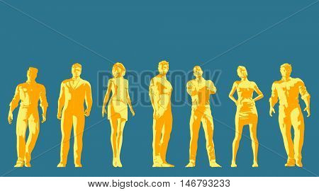 Future Leaders of the Next Generation of Business People 3D Render