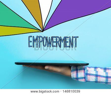Empowerment Concept With A Tablet