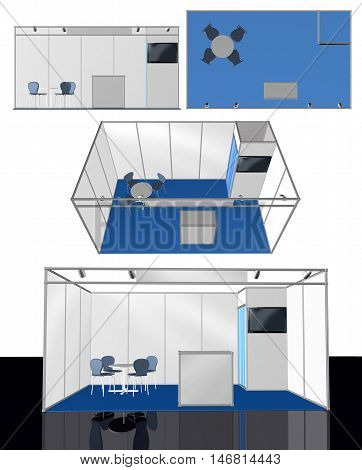 Exhibition stand 3D elements, add your own design