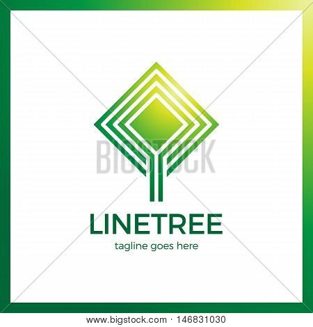 Bio Logo, Environmental Sign. Smart And Clever Line Tree Logos. Business Eco Clean Logotype
