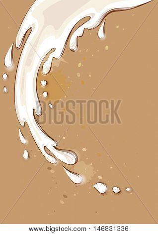 Milk splash. Isolated vector illustration.