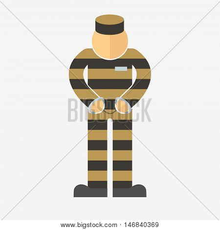 Prisoner With Ball On Chain Icon