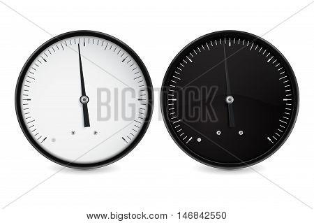 Speedometer gauge. Universal empty dial. Vector illustration on white background