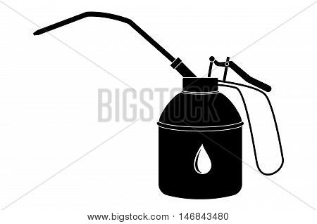 Oiler. Drop-oiler. Car service tool. Vector illustration isolated on white background