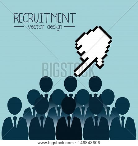recruitment employee hired isolated vector illustration eps 10