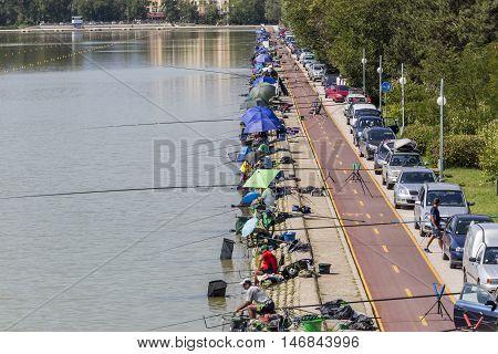 Fishing Tournament In Plovdiv, Bulgaria