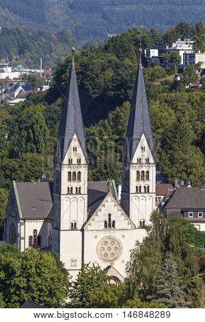 St. Michael Church in the city of Siegen. North Rhine Westphalia Germany