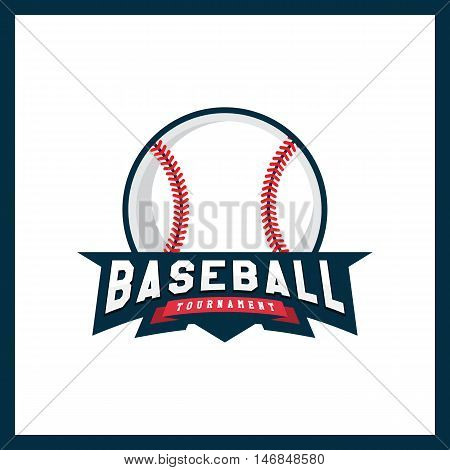 Modern Professional Logo For A Baseball League. Sport Style Logo. T-shirt Emblem