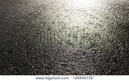 Asphalt, asphalt texture, real asphalt texture background, scabrous asphalt background, grainy street detail gray textured background, seamless asphalt background, closeup, wet road, wet asphalt, autumn