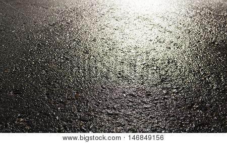 Asphalt, asphalt texture, real asphalt texture background, scabrous asphalt background, grainy street detail gray textured background, seamless asphalt background, closeup, wet road, wet asphalt, autumn