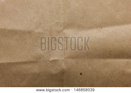 Structure of a crushed kraft brown paper.