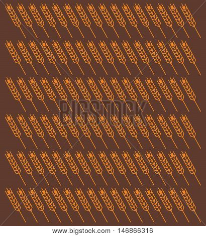 flat design ear of wheat pattern background image vector illustration